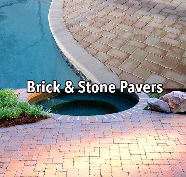 Brick and stone pavers based pool decks.