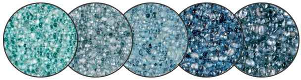 Glass bead pool surfaces for remodeling pools.