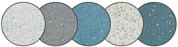 Quartz pool surfaces for remodeling pools.