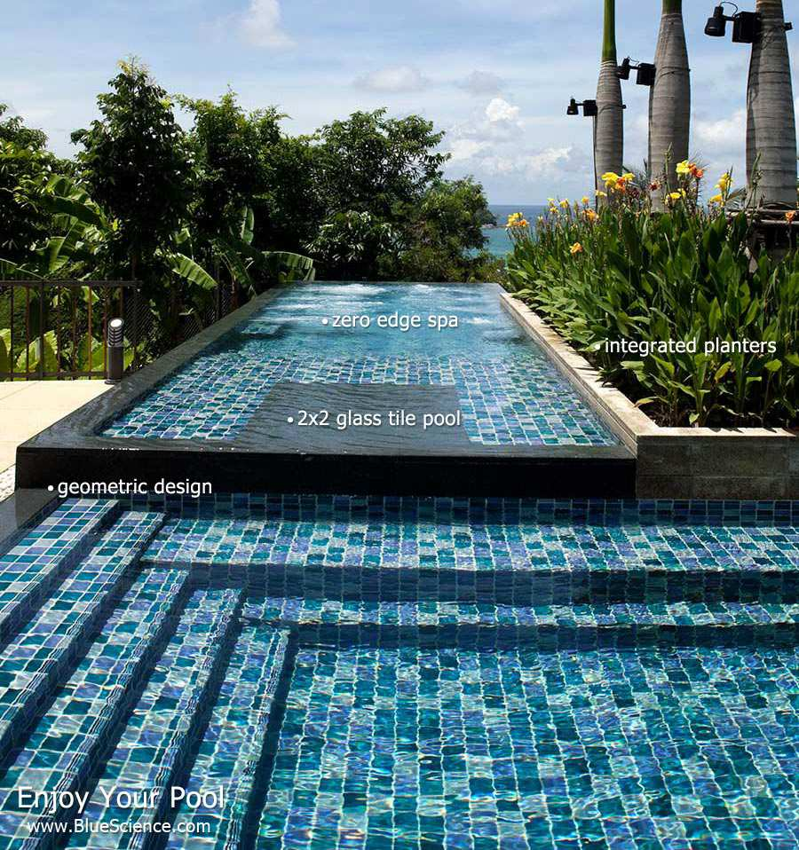 Zero edge pool design for Pool edges design
