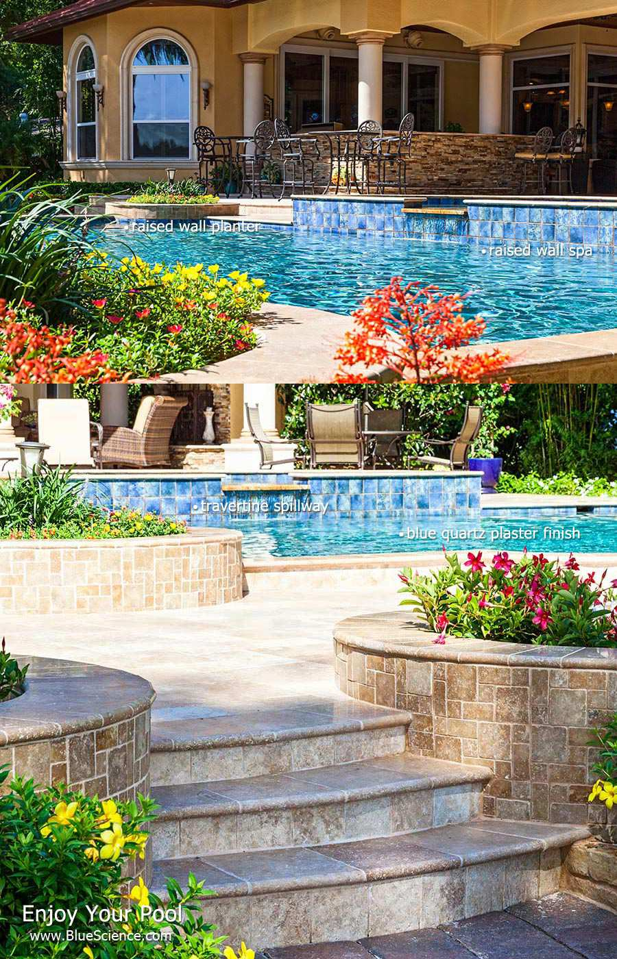 Pool Design Dallas pool feature highlights Pool Feature Highlights